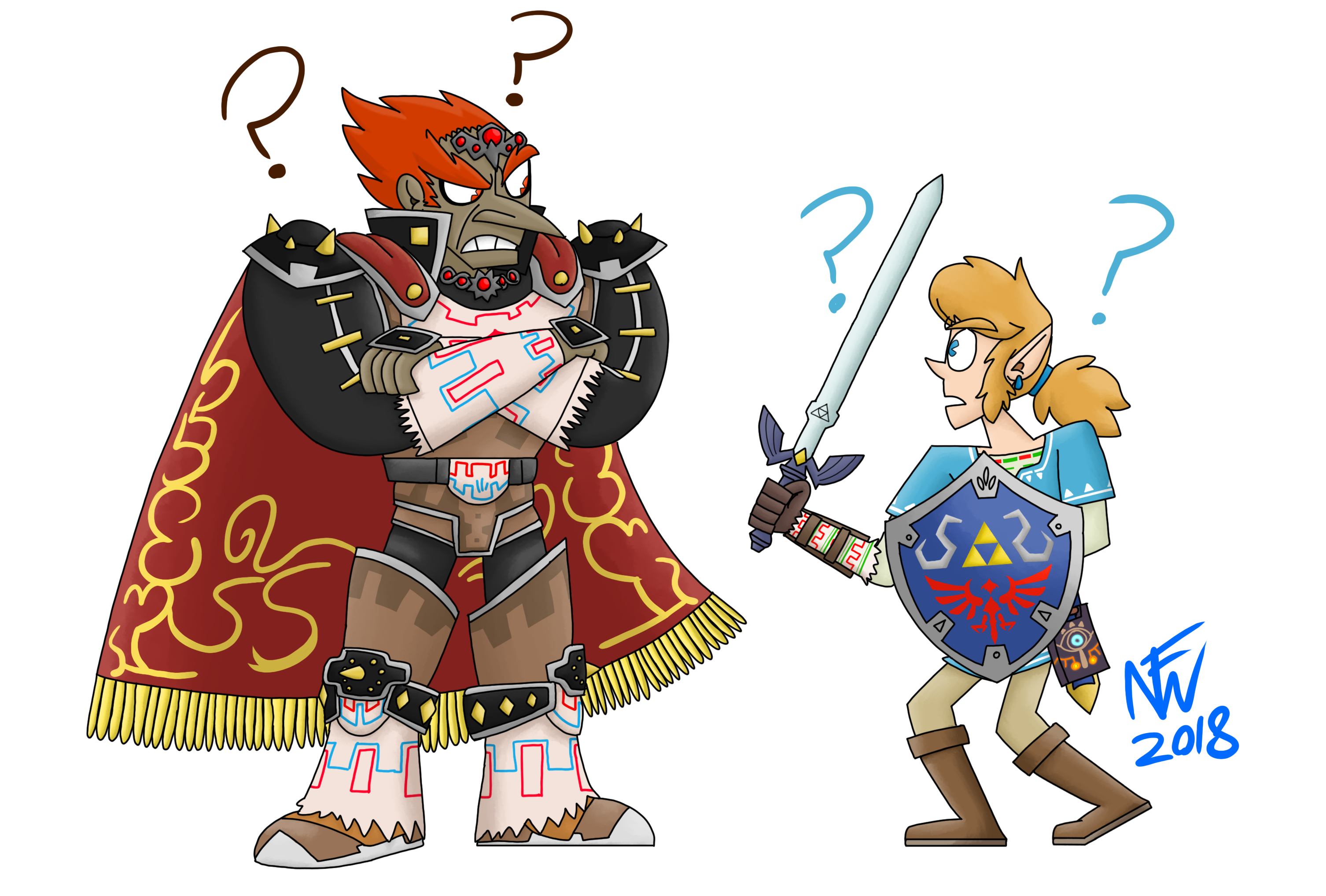 Ganondorf And Link Meet In Smash Bros Ultimate By Noah