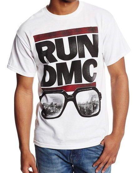 9fe54cfdb80 HYBRID Mens T-Shirt RUN DMC New York NYC Glasses DJ Music Adidas Concert  S-XXL  Hybrid  GraphicTee