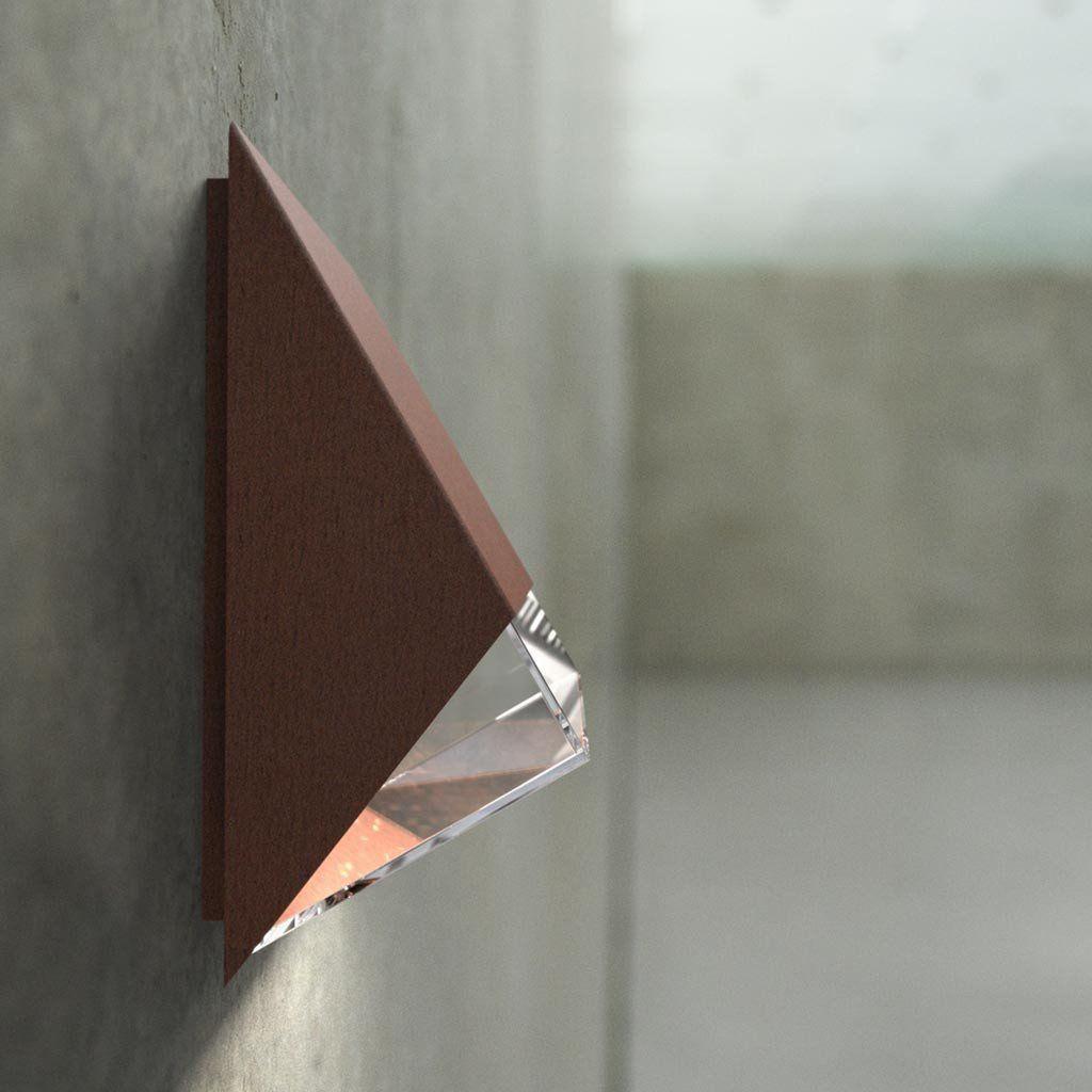 Nordlux edge wall light corten outdoor lighting lampsy