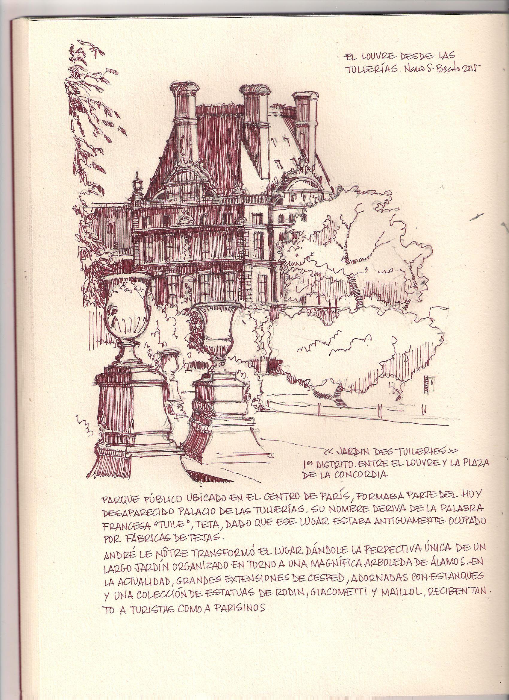 El Louvre desde Las Tullerías. París. Nano S-Beato.