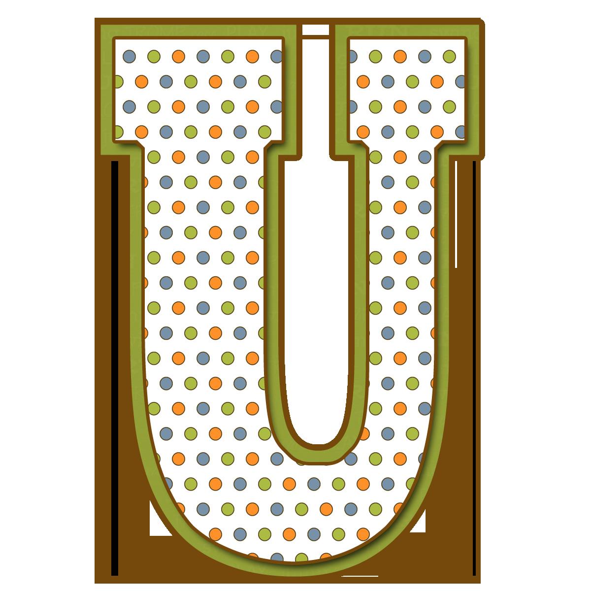 Letras Mayúsculas para imprimir de bolitas de colores. Letra U ...