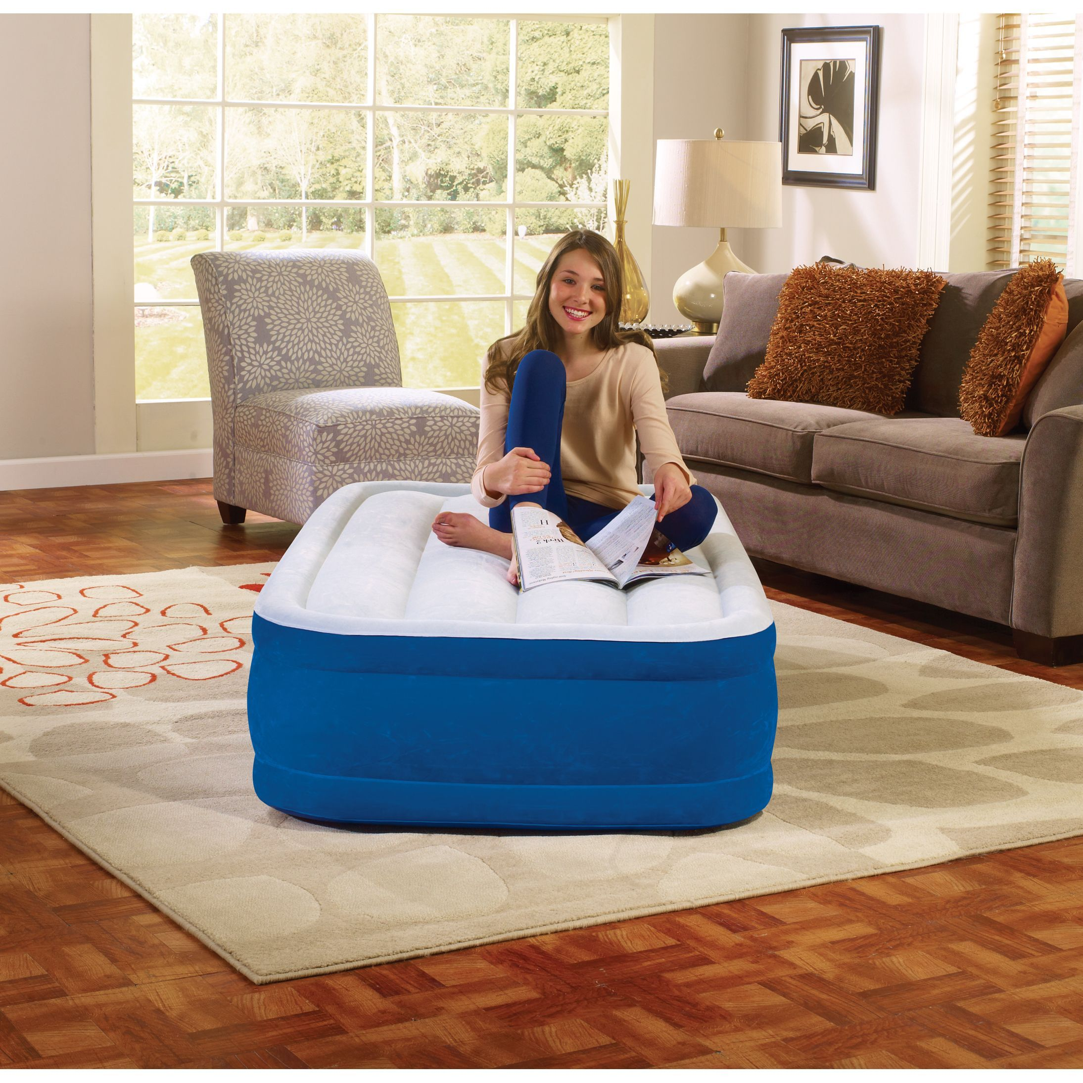 simmons beautyrest plushaire 15 inch twin size airbed simmons