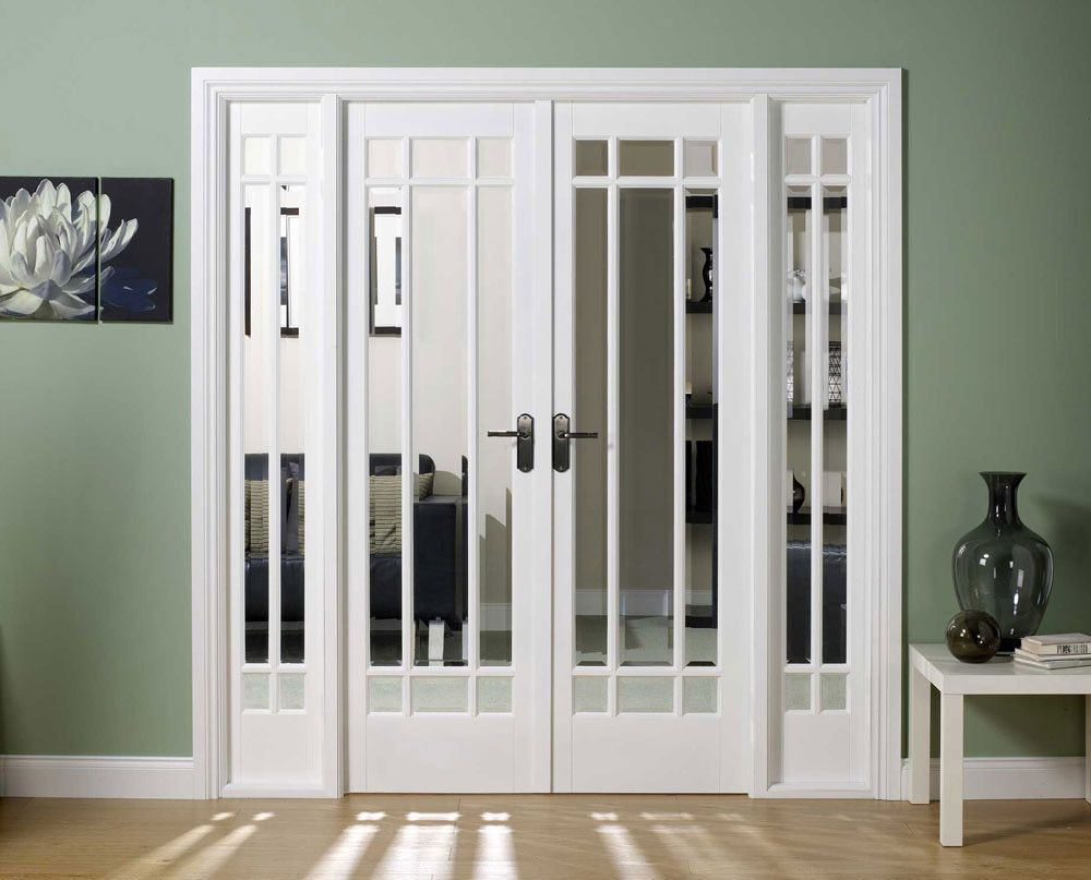 interior french doors white photo - 6