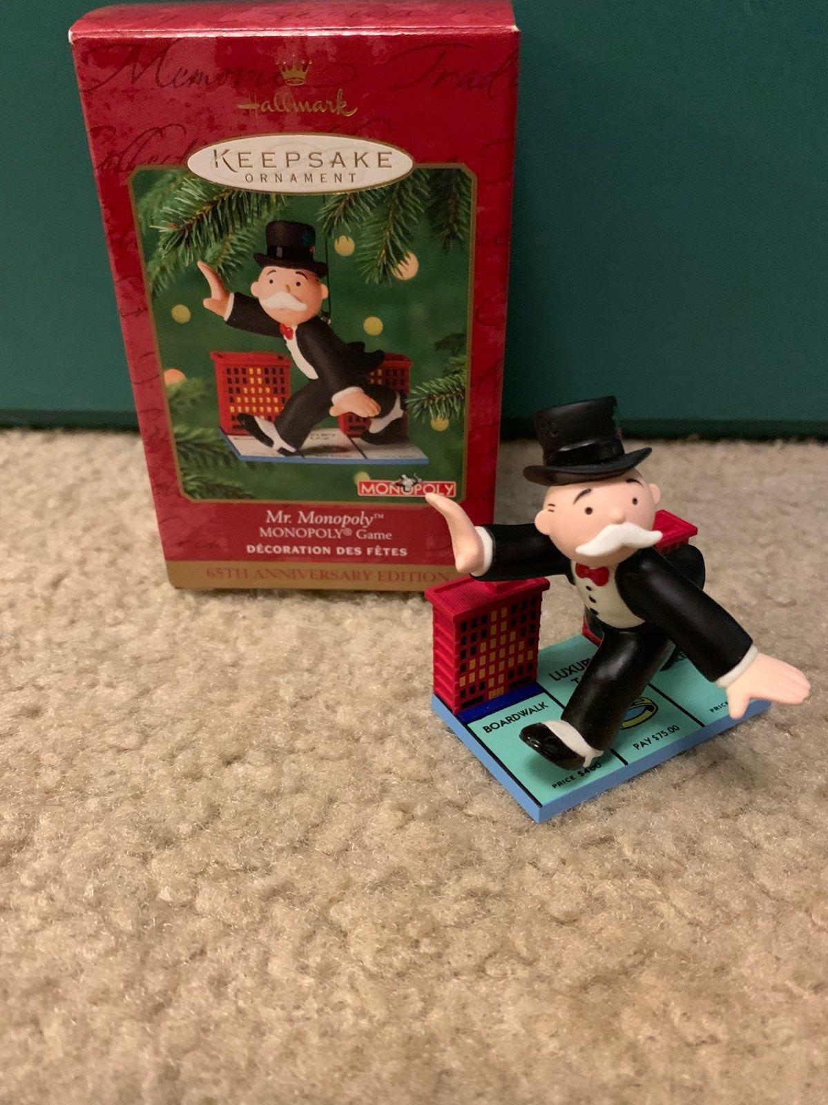 Hallmark keepsake ornament Mr Monopoly 65th Anniversary