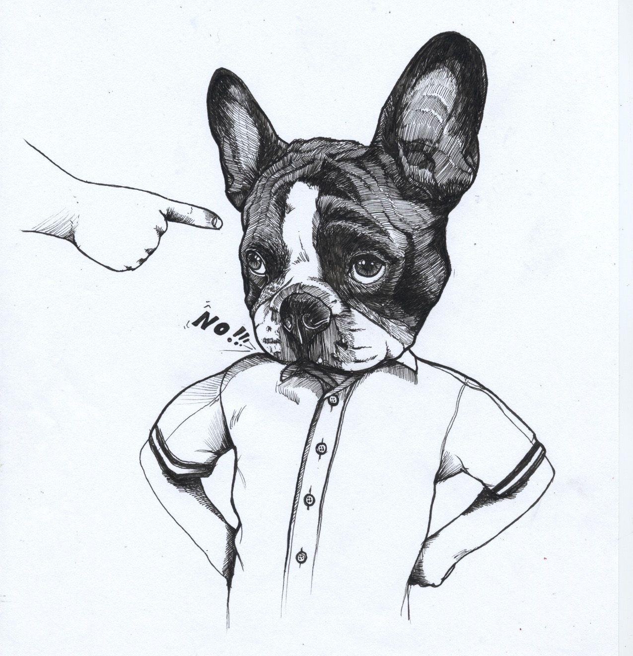 French Bulldog The Dog Painter Jeroen Teunen Teunen Frenchie Dieren Franse Bulldog Bulldog