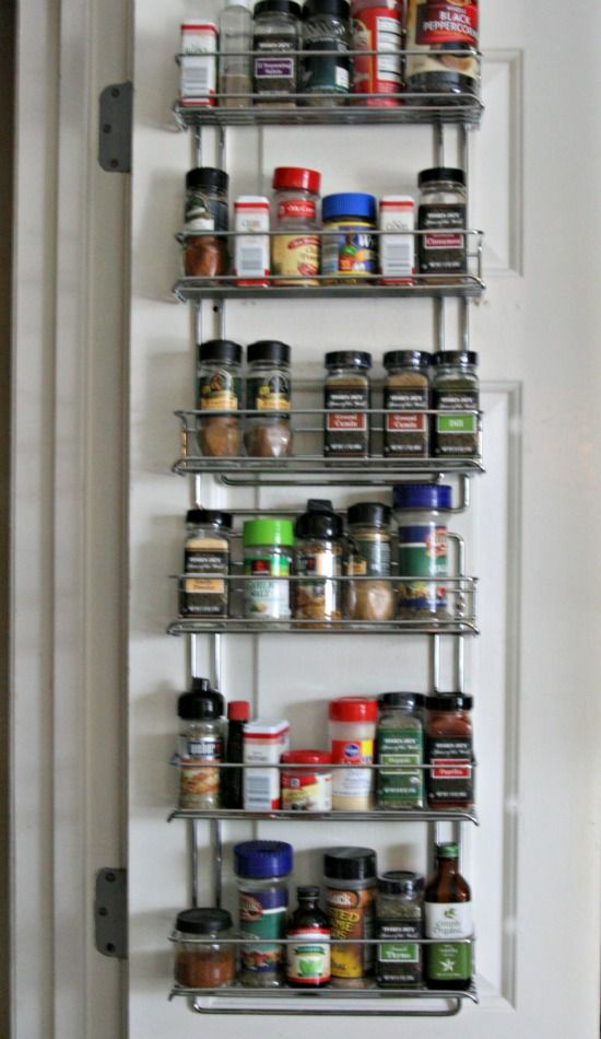 Organizing kitchen spices on pantry door organize pinterest organizing kitchen spices on pantry door workwithnaturefo