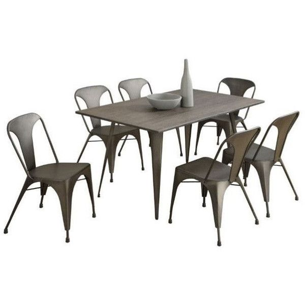 Monarch Metal Cafe Dining Side Chair ($169) ❤ liked on Polyvore featuring home, furniture, chairs, dining chairs, cafe furniture, metal cafe chairs, metal side chair, metal chairs and heavy duty furniture