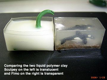 The Polymer Clay Testing Fimo Decorating Gel And Translucent Liquid