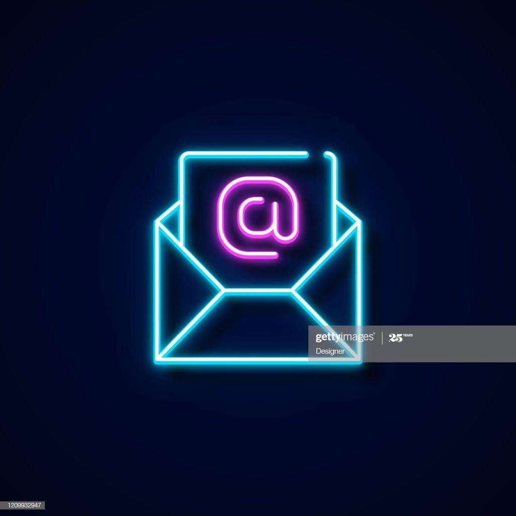 E Mail Icon Neon Style Design Elements Wallpaper Iphone Neon Neon Wallpaper Mail Icon