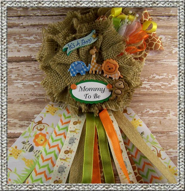 Safari Baby Shower Corsage: Pin By Carla Mora On Baby Shower