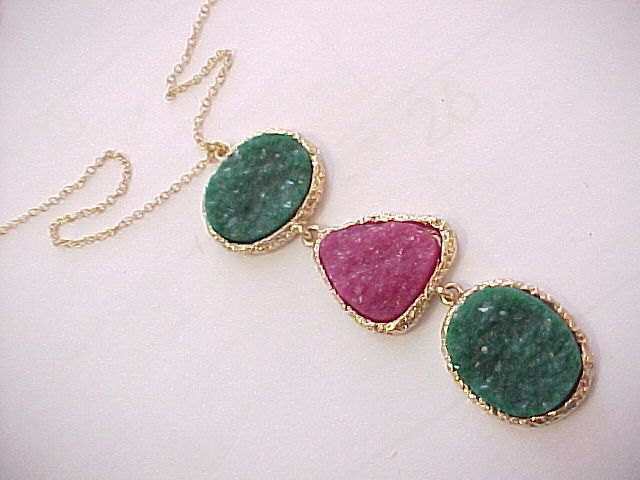 30.00tcw red and green quartz necklace #Unbranded #drop