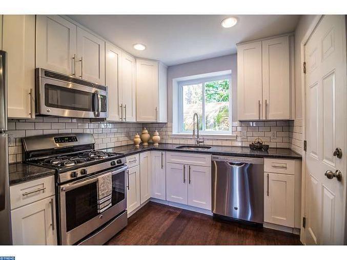 Best White Shaker Cabinets Steel Gray Granite Subway Tile 400 x 300
