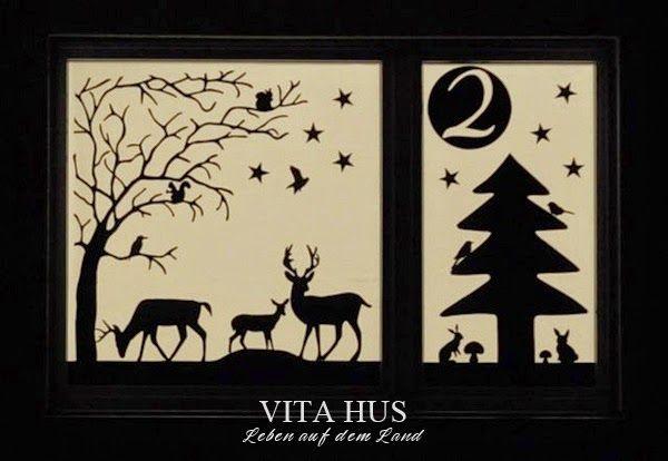 Weihnachtsfenster adventsfenster selber machen - Adventsfenster gestalten ideen ...