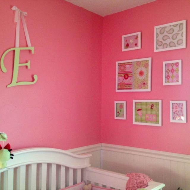 DIY nursery wall art. Scrap book paper and embellishments using ...
