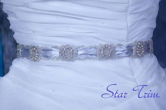 CASEY crystal wedding bridal sash belt by startrim on Etsy, $50.00
