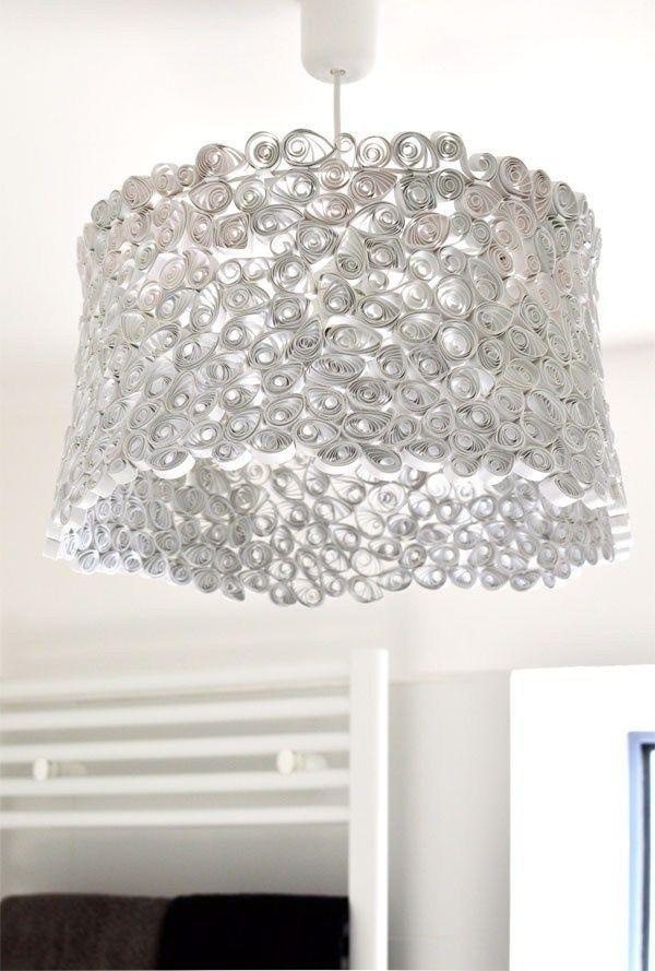 papierlampe selber machen quilling pinterest lampes abat jour et abat. Black Bedroom Furniture Sets. Home Design Ideas