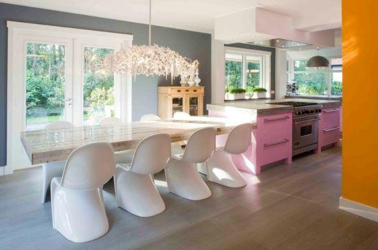 küche einrichten wandgestaltung wandfarbe esszimmermäbel modern - wandfarben fr esszimmer