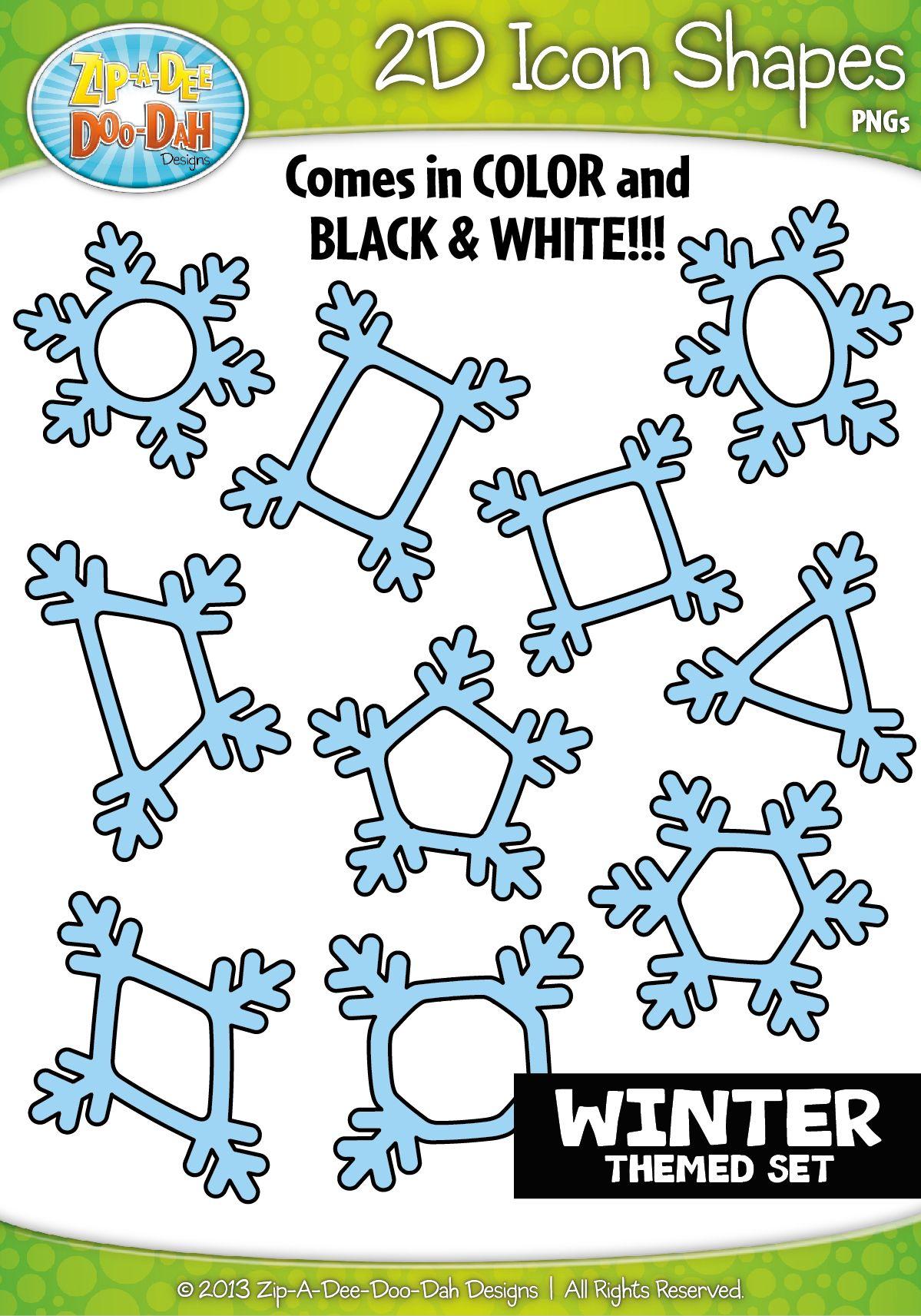 Winter 2d Icon Shapes Clipart Zip A Dee Doo Dah Designs