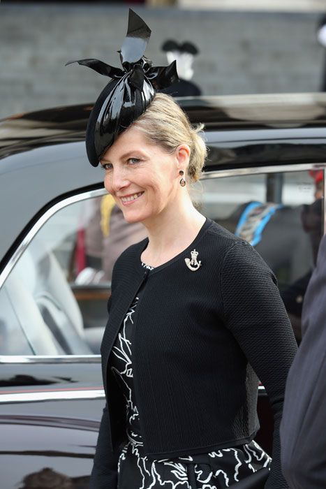 Sophie, Countess of Wessex at St Paul's Cathedral for a service marking the end of combat operations in Afghanistan.