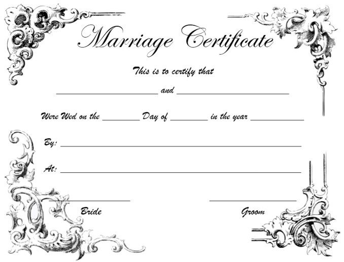 10 Free Marriage Certificate Templates Marriage Certificate