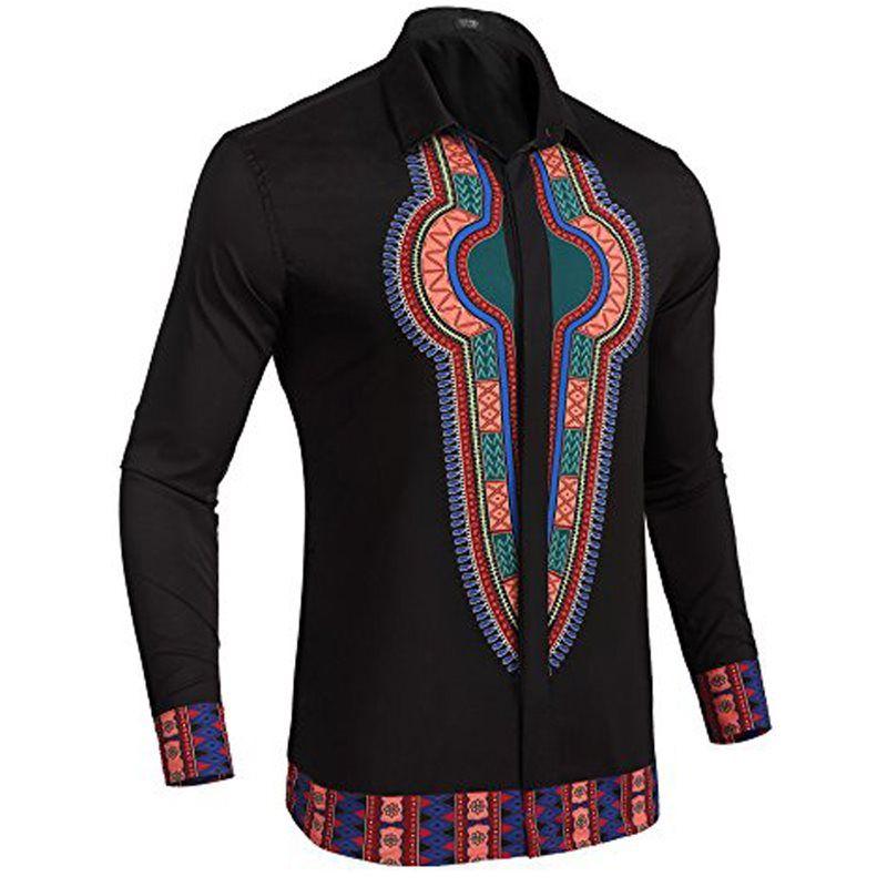 Tidebuy Lapel African Style Dashiki Mens Shirt #africanstyleclothing