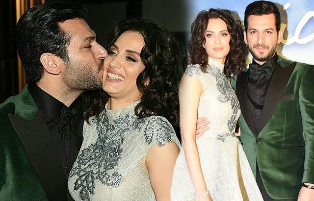 قبلات مراد يلدريم لزوجته إيمان الباني تخطف الإنظار في عرض فيلمه أول قبلة