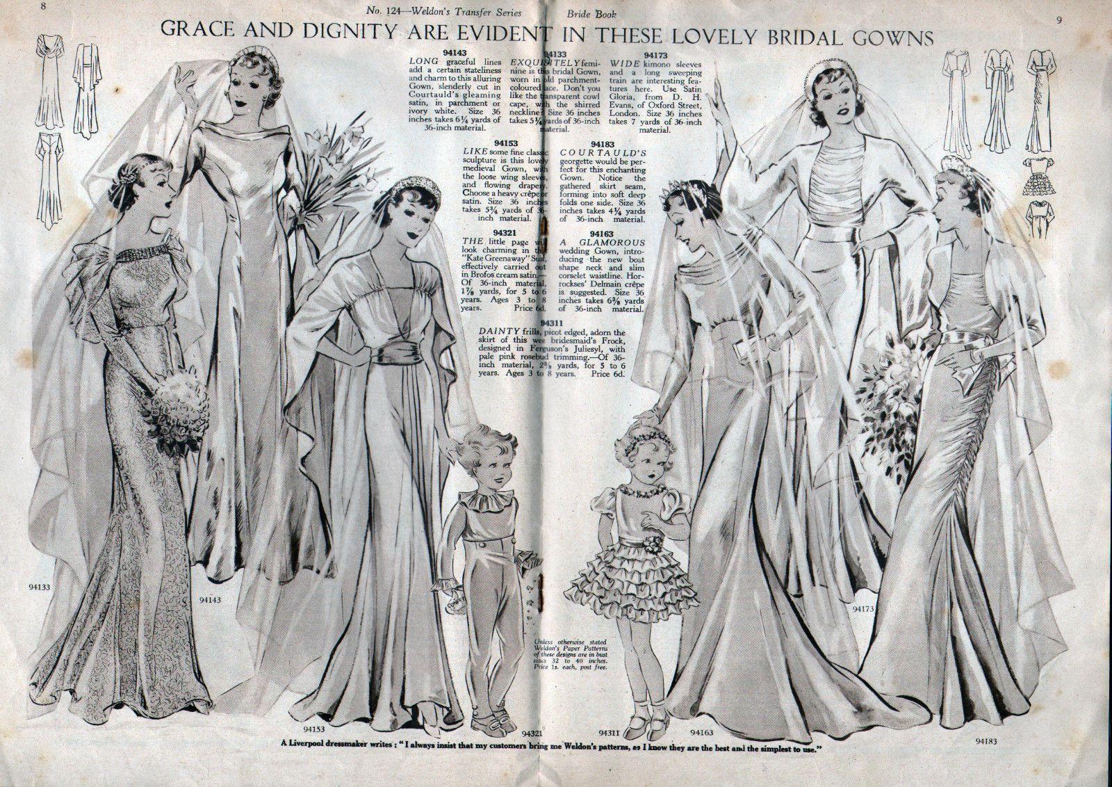 Free wedding dress catalogs  Rare us WELDONuS Brideus Book Catalog  Two Wedding Dress