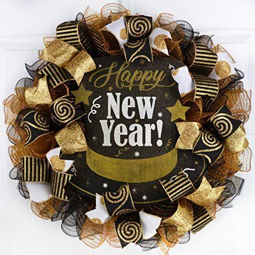 Happy New Year Front Door Wreath   New years eve ...