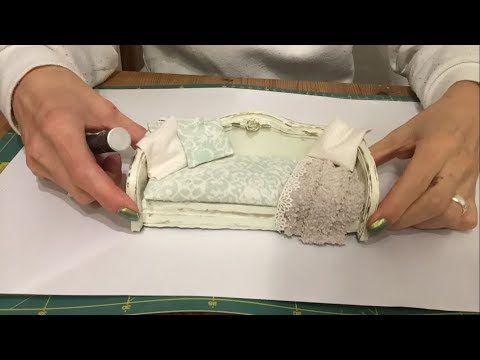 DIY Miniature No-Sew Armchair Tutorial - Alice in Wonderland Inspired