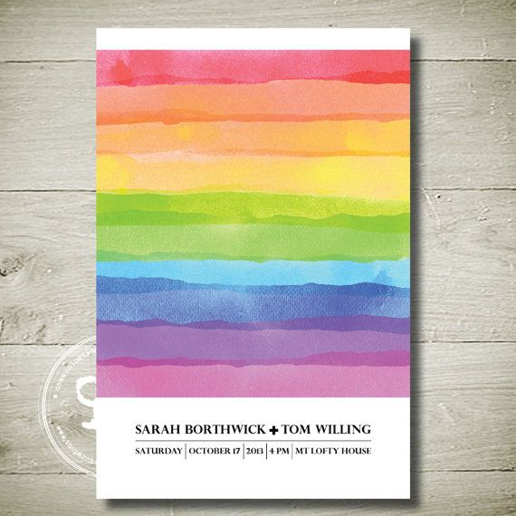 RAINBOW STRIPES  Custom Personalised by theparchmentplace on Etsy, $13.00