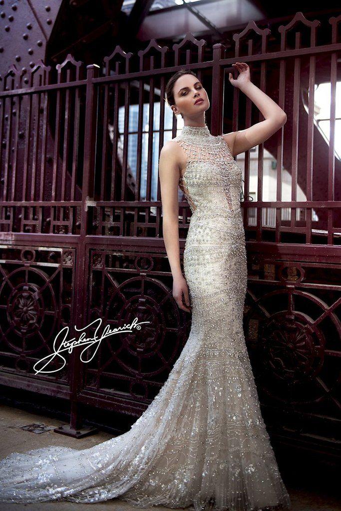 Stephen Yearick '14196' size 4 used wedding dress front