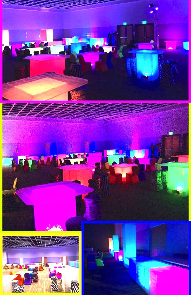 Pin On Prom Decorations Up Lighting Glow Table Rentals