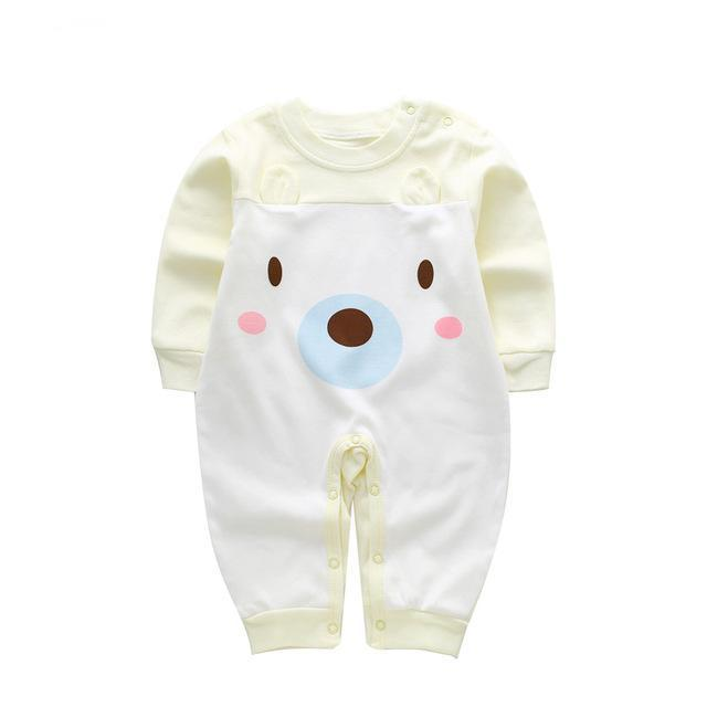8f6f0eb0cc08 Newborn Baby Bear Romper Clothing Baby Spring Long Sleeve Pajamas Jumpsuit  Clothes Baby Boy Girls Rompers Infant Girls Overalls