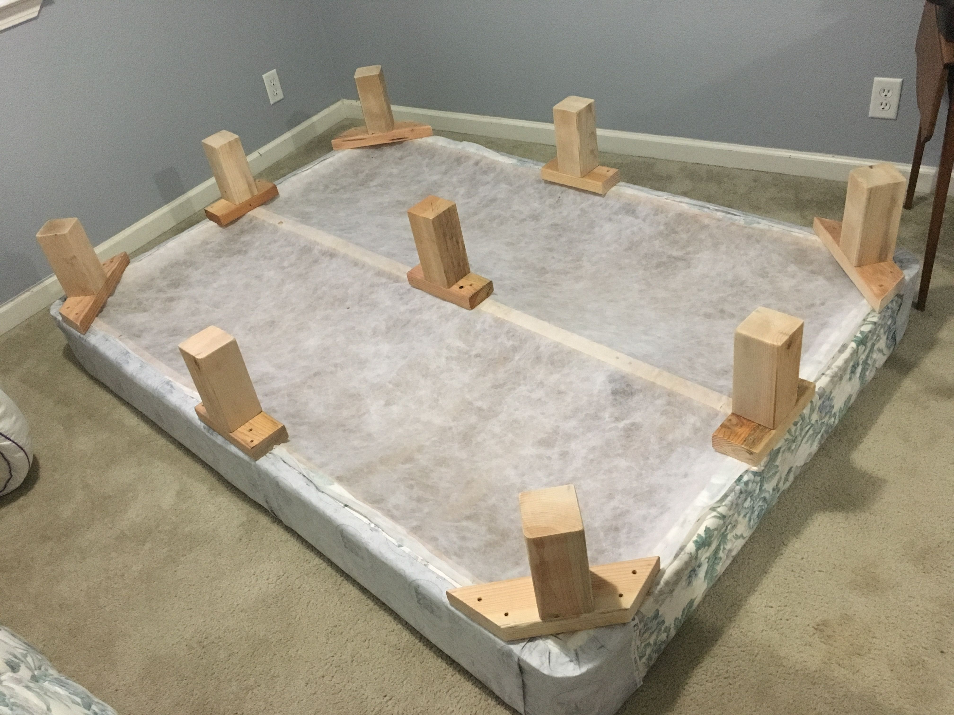 How I Turned A Box Spring Into A Bed Frame Box Spring Bed Frame Box Spring Bed Spring Bed Frame Can you use a boxspring with a platform bed