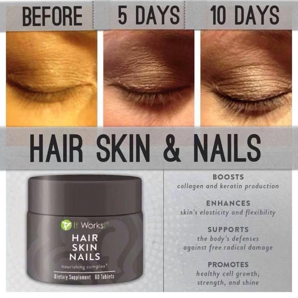 Grow your lashes! It Works Hair Skin Nails $33 loyal customer price ...