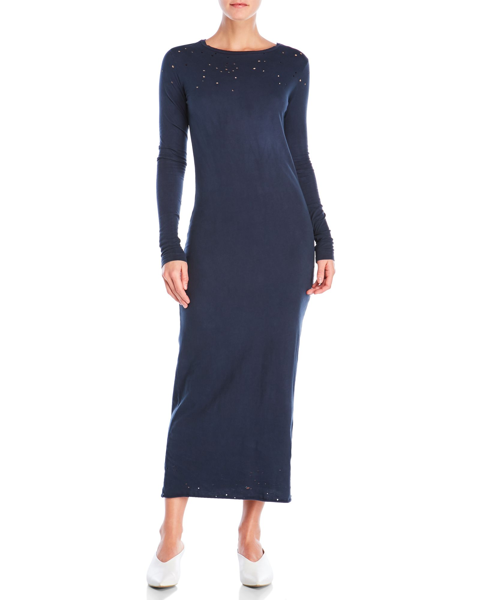 Ksubi long sleeve plunging back maxi dress apparel u accessories