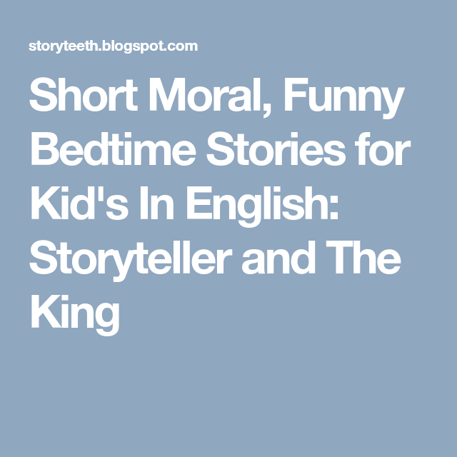 Short Moral, Funny Bedtime Stories for Kid's In English