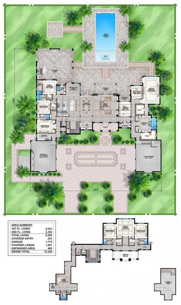 Plan No775828 House Plans by WestHomePlanners Home floor