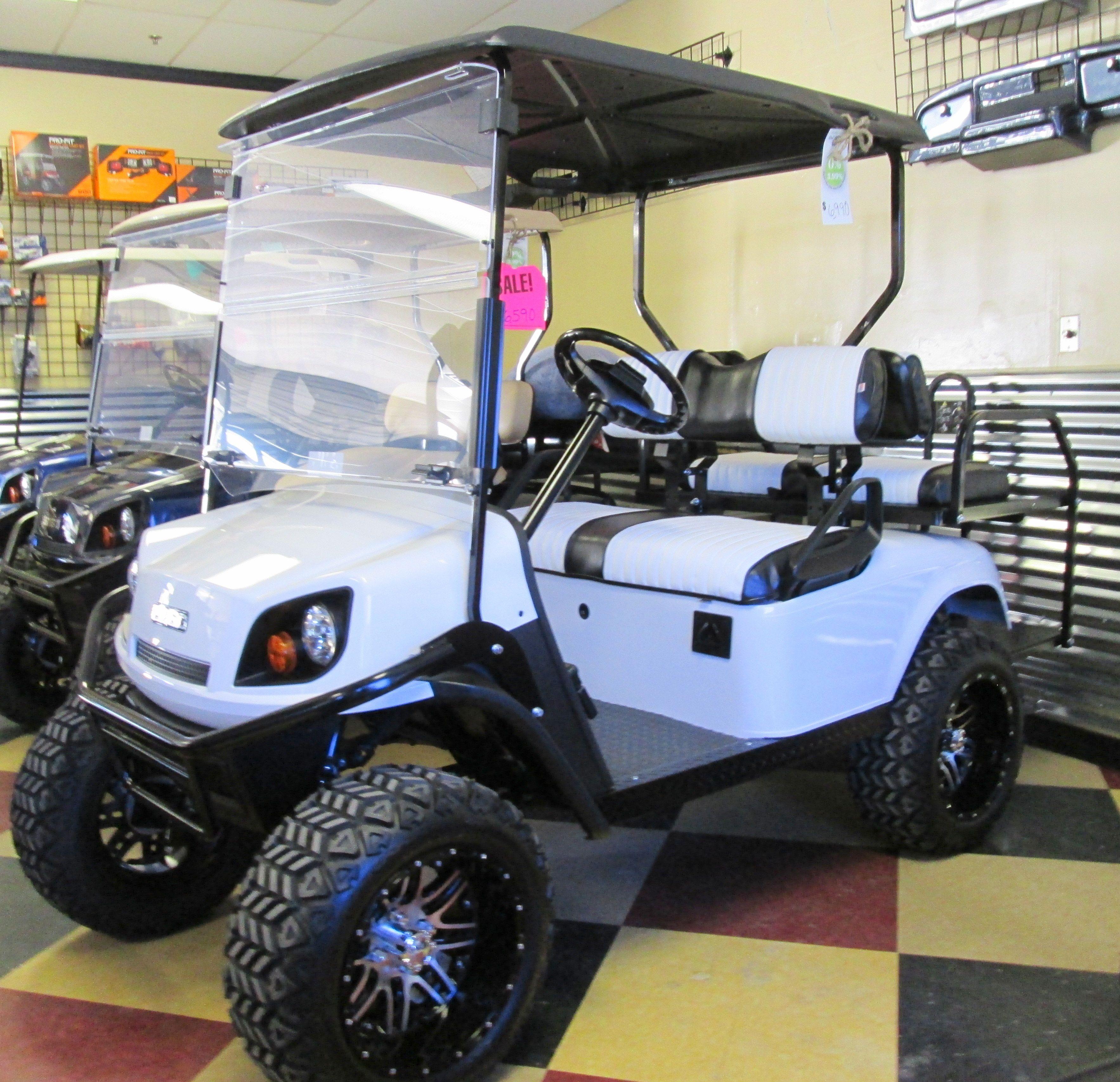 19th hole golf carts white ezgo golf cart with custom