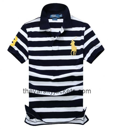 Mens Ralph Lauren Polo Stripe Shirts BlackWhiteYellow Shop Online  [Black/White/Yellow Men