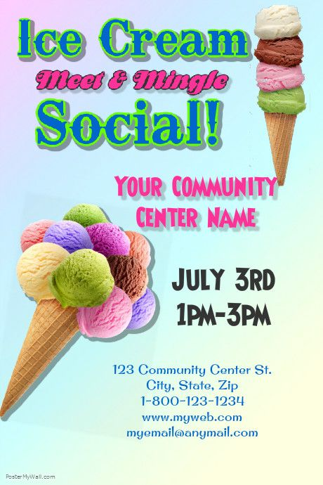 Poster Template On Postermywall Ice Cream Social Ice Cream Party Ice Cream Social Invitations