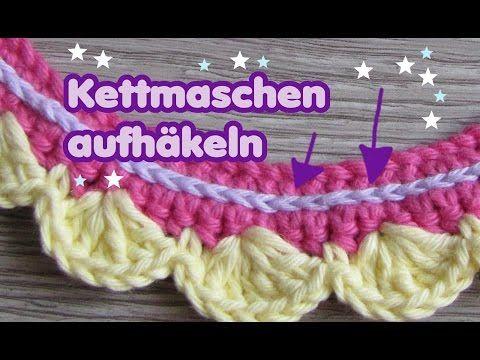Kettenstich Häkeln Lernen Handarbeiten Youtube