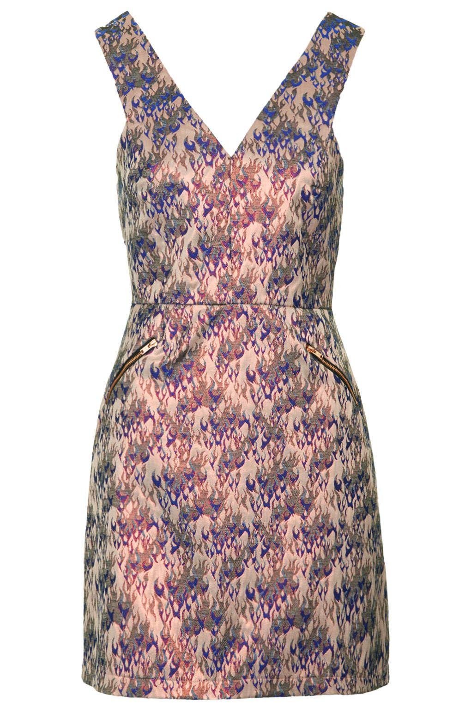 Pink dress topshop  Flame Jacquard Shift Dress  Style inspo  Pinterest  Topshop