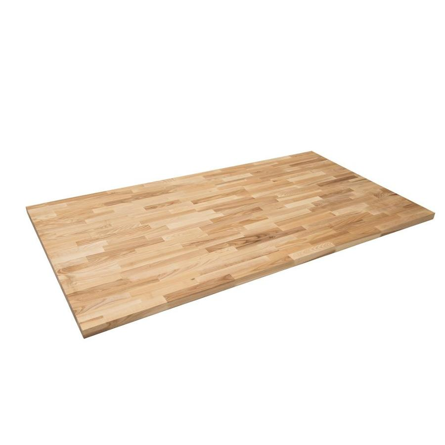 8 0 Ft Natural Straight Butcher Block Kitchen Countertop At Lowes Com Butcher Block Kitchen Countertops Butcher Block Kitchen