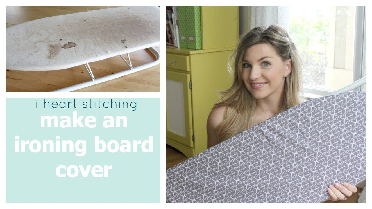 This Video Shows You How To Make And Sew An Ironing Board Cover My Ironing Board Was A Mini O Ironing Board Covers Mini Ironing Board Diy Ironing Board Covers