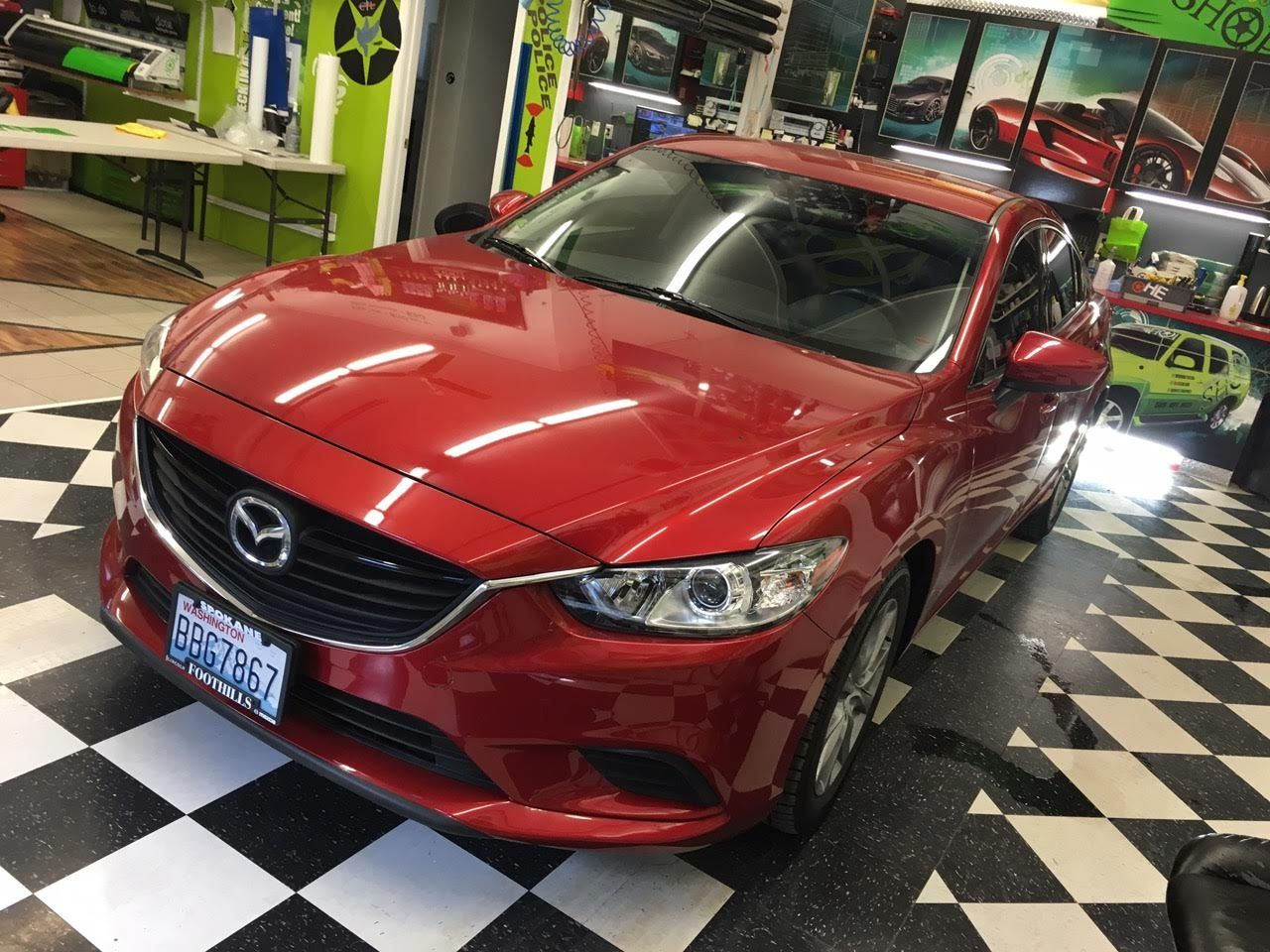 Mazda 6 was one of the projects today! RED, thats a hot