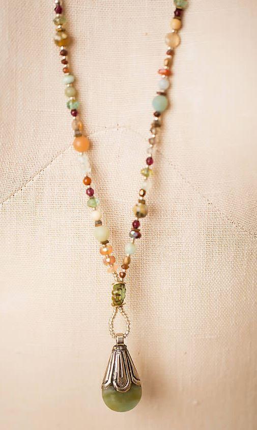 """Anne Vaughan Designs - Gentle Breeze 31"""" Tibetan Focal Necklace"""