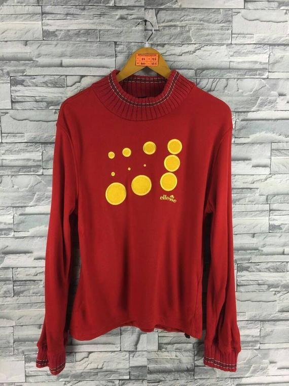 5171d083f2e1 Vintage ELLESSE Sweatshirt Turtleneck Ladies Large 90's Ellesse Sports  Jumper Women Ellesse Sweater