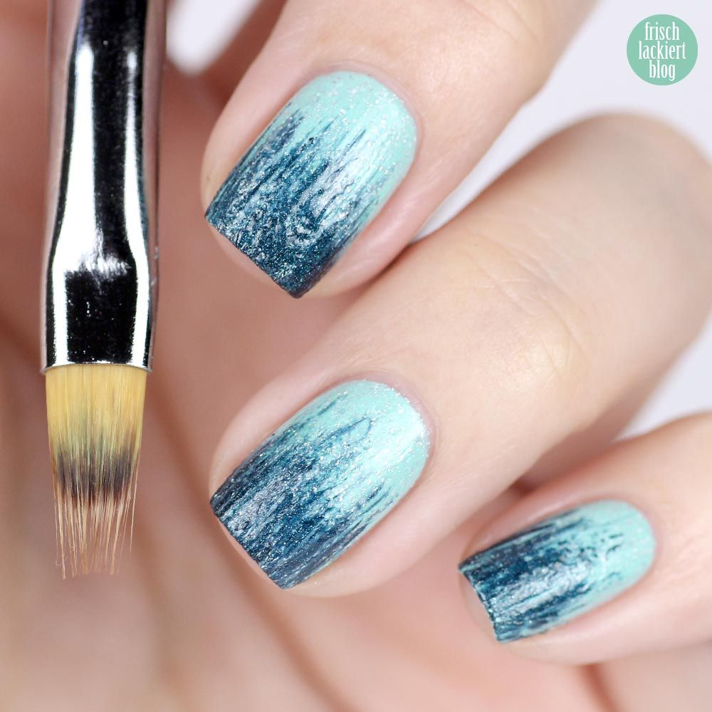 Gradient nail art brush review design from bornprettystore.com ...