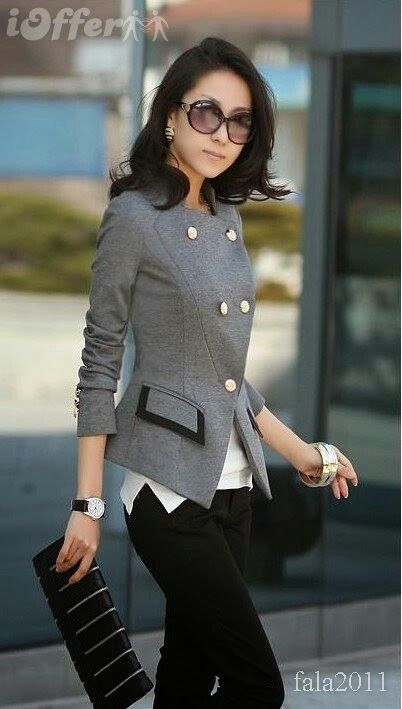629436b8da4ae Chic office wear   Work Outfits   Pinterest   Veste, Mode et Veste ...